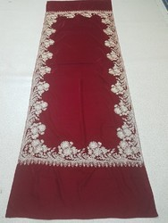 Velvet Zari Embroidered Work Stoles