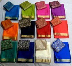 Plain Chinnon Silk Fabrics