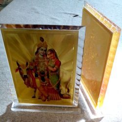 7x5 Inch Size Acrylic Diamond Cut Religious Frames
