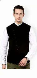 Hypernation Black Nehru Waistcoat