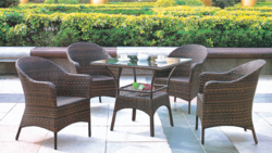 Classic Style Outdoor Wicker Coffee Set