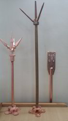 copper lighting arrester rod flat tape system