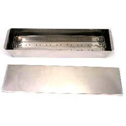 Stainless Steel Rectangular Cidex Tray with Cover, For Clinic