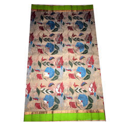 Printed Casual Wear Kota Floral Cotton Saree, 6.3 m (with blouse piece)