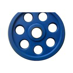 7 Hole Rubber Weight Plate