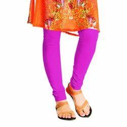 Ladies Purple Plain Leggings
