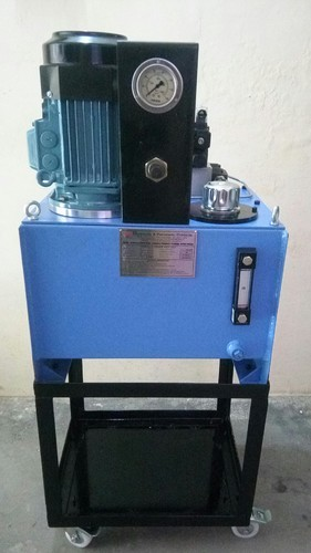 Customized Hydraulic Power Pack With Trolley Stand