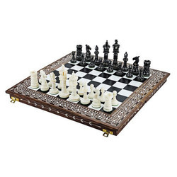 Camel Bone Designer Chess Set