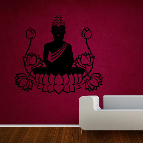 buddha wall stickers, wall stickers | kcc nagar, jaipur | creative