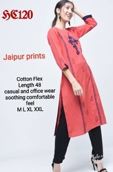 Cotton Flex Embroidery Kurta