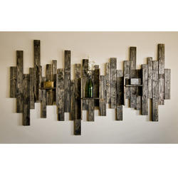 Brown Wood Decorative Wall Hanging, for Home