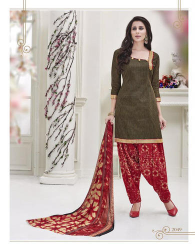Green Casual Wear Designer Cotton Salwar Suit Rs 443 Piece