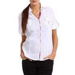 Ladies Half Sleeve Shirt