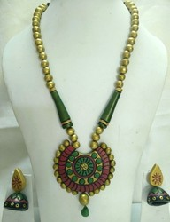 Wedding Wear Terracotta Necklace Set