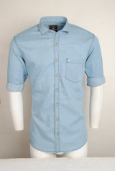 Ice Blue Denim Shirt