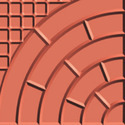 Curved Brick Checkered Tile