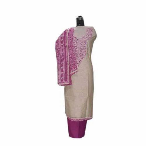 Chanderi Silk Unstitched Suit at Rs 1195 /piece | Chanderi Silk ...