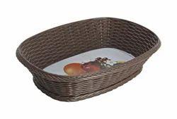 Brown Ciplaplast Plastic Cane Basket, 30x15 Cm-40x20 Cm