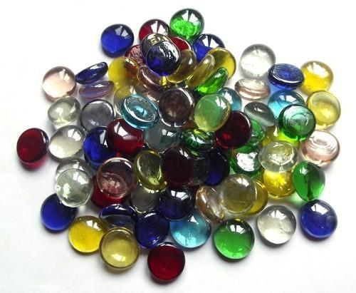 1/2 Round Glass Pebbles, Size: 18mm 25mm