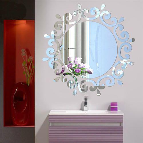 2 x 2, 2 x 3 and 4 x 4 feet acrylic mirror wall decal, rs 150