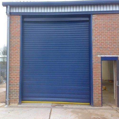 Blue Mild Steel Automatic Shutter