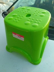 Green Plastic Bathroom Stool