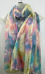 Multi Colour Shaded Silk Scarves