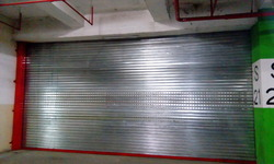 Sliver Metal Motor Rolling Shutter, Size: 28 Ft Width, 16 Ft Height