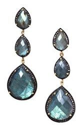 Labradorite Pave Set Long Earring