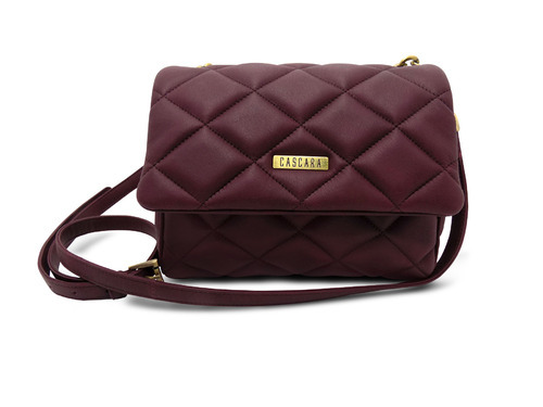 Leather Blood Red Quilted Handbag at Rs 2720 /piece | Poonamallee ...