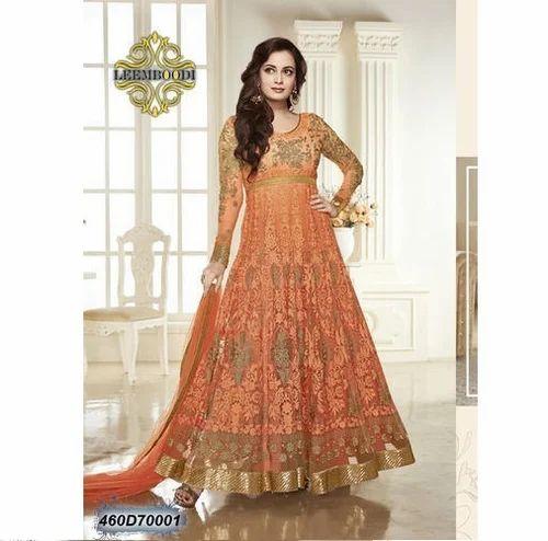 e343781105 Light Orange Net Ethnic Bridal Dress, Rs 2412 /piece, Leemboodi ...