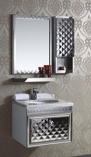 Stainless Steel Bathroom Vanity Ss ज गर ध