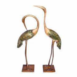 Brass Cranes Pair Showpiece