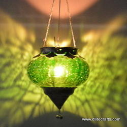 Glass T Light Hanging Lanterns