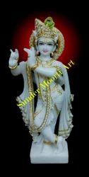 Golden Gold Plated Hindu Shree Krishna Bhagwan Moorti For Temple Id 10873901633