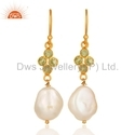 925 Silver Natural Pearl Earrings Jewelry