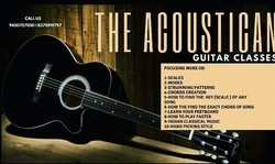 THE ACOUSTICAN GUITAR CLASSES(Best Guitar Services In Lucknow)
