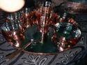 Silver Plain Thali Set Copper Coating, For Home