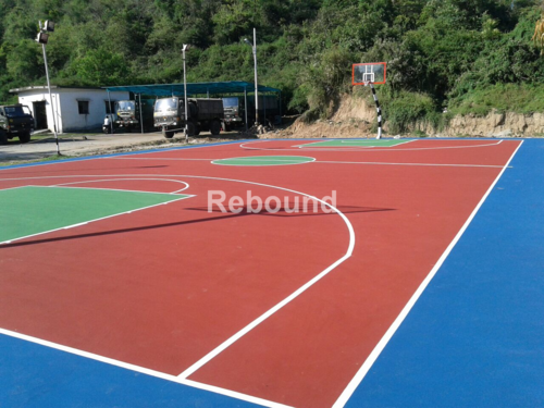 Synthetic PU Basketball Court Flooring