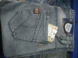 Pattern Denim Jeans