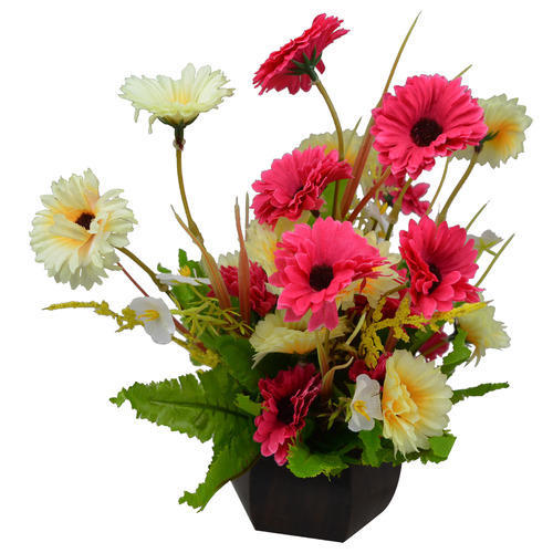 artificial flower pots for outside at rs 160 /piece | fake flower