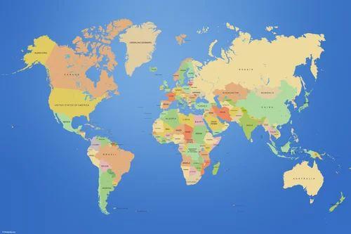 World Map Wallpaper व लप पर Aarcee New Delhi Id