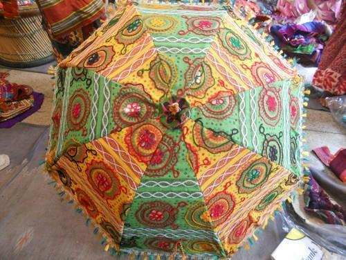 New Jaipur Handicraft Rajasthani Umbrella, Size: 24x28 Inch