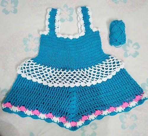Crochet Baby Frock at Rs 250 /piece | Crochet Baby Frock, Crochet ...