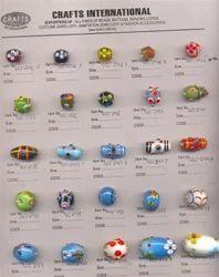 Golden Plastic Designer Beads
