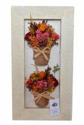 Autumn Rectangle Artificial Roses wall decor