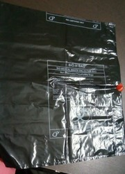 Garbage bag with thread