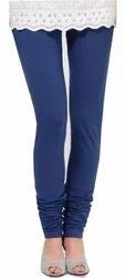 Dark Blue Cotton Leggings