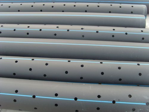 Bentex Black With Blue Line Hdpe Perforated Pipe