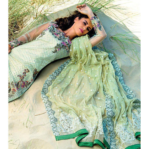 88148d3910 Party Wear Grey Chiffon Designer Suit, Rs 3200 /piece, Maryam ...